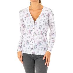 Textiel Dames Vesten / Cardigans La Martina Veste tricotée Wit