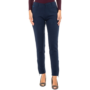 Textiel Dames Broeken / Pantalons La Martina Pantalon ottoman Blauw