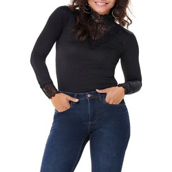 Textiel Dames T-shirts met lange mouwen Jacqueline De Yong  Zwart