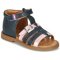 Schoenen Meisjes Sandalen / Open schoenen GBB GUINGUETTE Marine / Roze