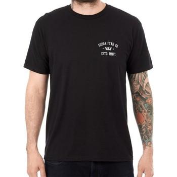 Textiel Heren T-shirts korte mouwen Supra  Zwart