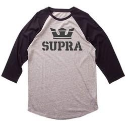 Textiel Heren T-shirts met lange mouwen Supra  Grijs