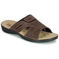 Schoenen Heren Leren slippers TBS BELTONN Brown