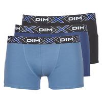 Ondergoed Heren Boxershorts DIM X-TEMP BOXER x3 Blauw / Marine / Zwart