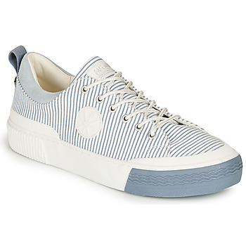 Schoenen Dames Lage sneakers Palladium STUDIO 02 TXT Wit / Blauw