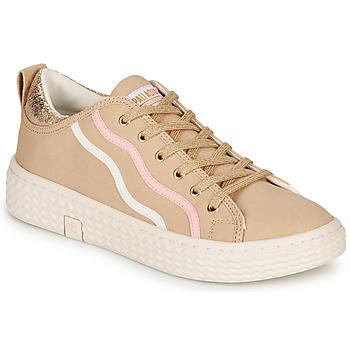 Schoenen Dames Lage sneakers Palladium TEMPO 02 CVS Beige
