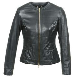 Textiel Dames Leren jas / kunstleren jas Geox ASALA Zwart