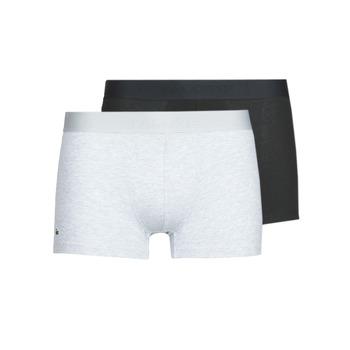Ondergoed Heren Boxershorts Lacoste 5H3378-SNP Zwart / Grijs / Chiné