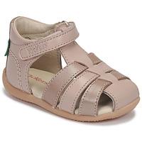 Schoenen Meisjes Sandalen / Open schoenen Kickers BIGFLO-2 Roze / Métal