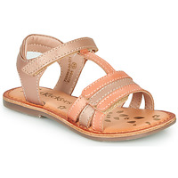 Schoenen Meisjes Sandalen / Open schoenen Kickers DIAMANTO Roze / Orange
