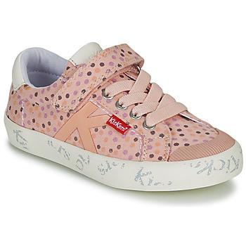 Schoenen Meisjes Lage sneakers Kickers GODY Roze / Polka dot