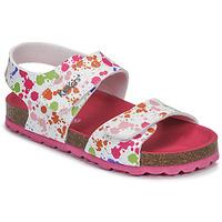 Schoenen Meisjes Sandalen / Open schoenen Kickers SUMMERKRO Wit / Multicolour