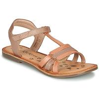 Schoenen Meisjes Sandalen / Open schoenen Kickers DIAMANTO Orange / Roze