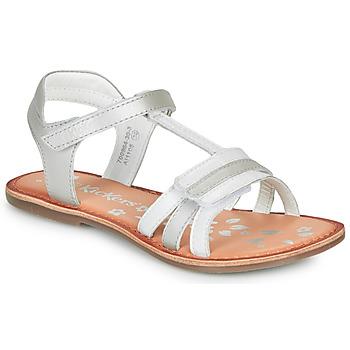 Schoenen Meisjes Sandalen / Open schoenen Kickers DIAMANTO Wit