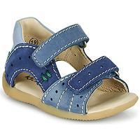 Schoenen Jongens Sandalen / Open schoenen Kickers BOPING-3 Blauw