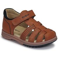 Schoenen Jongens Sandalen / Open schoenen Kickers PLATIBACK Brown