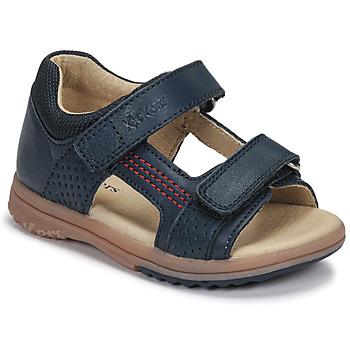 Schoenen Jongens Sandalen / Open schoenen Kickers PLAZABI Marine