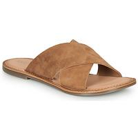 Schoenen Dames Leren slippers Kickers DIAZ-2  camel