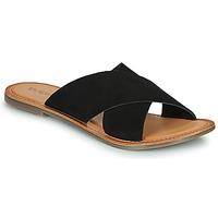 Schoenen Dames Leren slippers Kickers DIAZ-2 Zwart