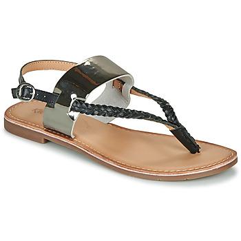 Schoenen Dames Sandalen / Open schoenen Kickers ESTHERA Zwart / Zilver