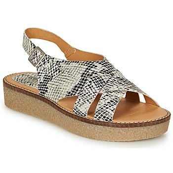 Schoenen Dames Sandalen / Open schoenen Kickers VICTORYNE Wit / Zwart / Python