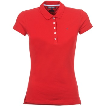 Textiel Dames Polo's korte mouwen Tommy Hilfiger NEW CHIARA Rood