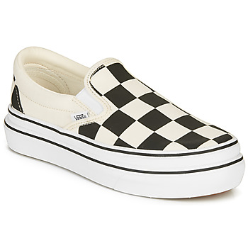 Schoenen Dames Instappers Vans SUPER COMFYCUSH SLIP-ON Wit / Zwart