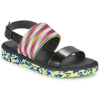 Schoenen Dames Sandalen / Open schoenen United nude OP SANDAL LO Zwart / Geel