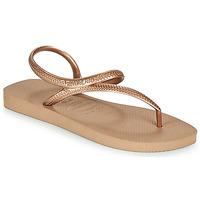 Schoenen Dames Slippers Havaianas FLASH URBAN Roze / Goud