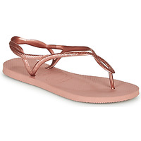 Schoenen Dames Slippers Havaianas LUNA Roze / Goud
