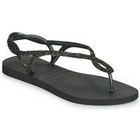 Schoenen Dames Slippers Havaianas LUNA PREMIUM Zwart