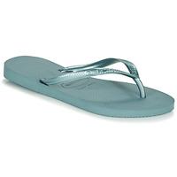Schoenen Dames Slippers Havaianas SLIM Blauw