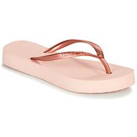 Schoenen Dames Slippers Havaianas SLIM FLATFORM Roze