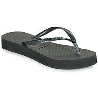 Schoenen Dames Slippers Havaianas SLIM FLATFORM Zwart