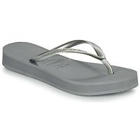 Schoenen Dames Slippers Havaianas SLIM FLATFORM Grijs