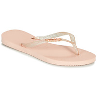 Schoenen Dames Slippers Havaianas SLIM LOGO METALLIC Roze