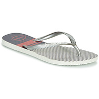 Schoenen Dames Slippers Havaianas SLIM NAUTICAL Wit