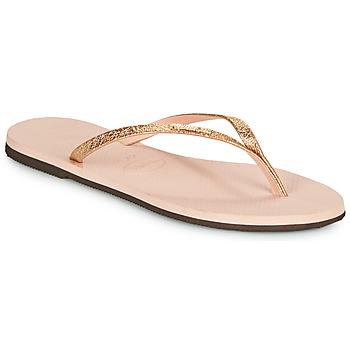 Schoenen Dames Slippers Havaianas YOU SHINE Roze