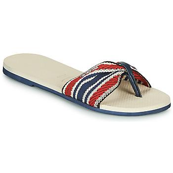 Schoenen Dames Slippers Havaianas YOU SAINT TROPEZ FITA Beige / Marine / Rood