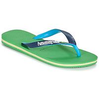 Schoenen Slippers Havaianas BRASIL MIX Groen / Blauw