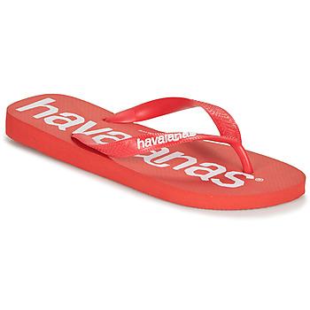 Schoenen Heren Slippers Havaianas TOP LOGOMANIA Rood