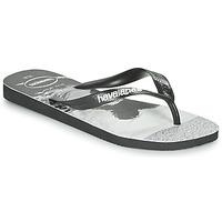 Schoenen Heren Slippers Havaianas TOP PHOTOPRINT Zwart / Wit