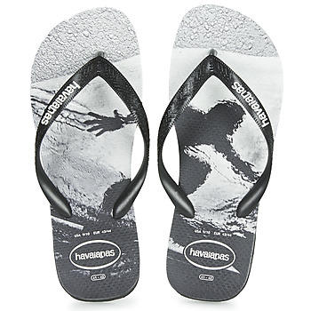 Schoenen Heren Slippers Havaianas TOP PHOTOPRINT Zwart / Wit
