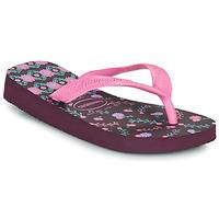 Schoenen Meisjes Slippers Havaianas KIDS FLORES Aubergine