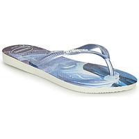 Schoenen Meisjes Slippers Havaianas KIDS SLIM FROZEN Blauw