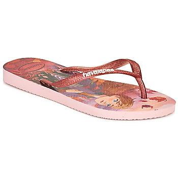 Schoenen Meisjes Slippers Havaianas KIDS SLIM FROZEN Roze