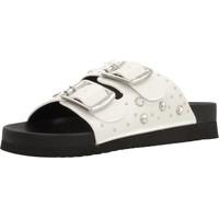 Schoenen Dames Leren slippers MTNG CRETA Wit