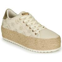 Schoenen Dames Lage sneakers Guess MARILYN Beige