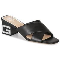 Schoenen Dames Leren slippers Guess MADRA Zwart