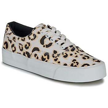 Schoenen Dames Lage sneakers Superdry CLASSIC LACE UP TRAINER Leopard